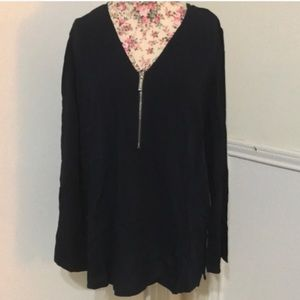 Michael Michael Kors Navy Blouse Zipper, Medium